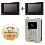 videocitofono 2 fili con monitor touch screen colori